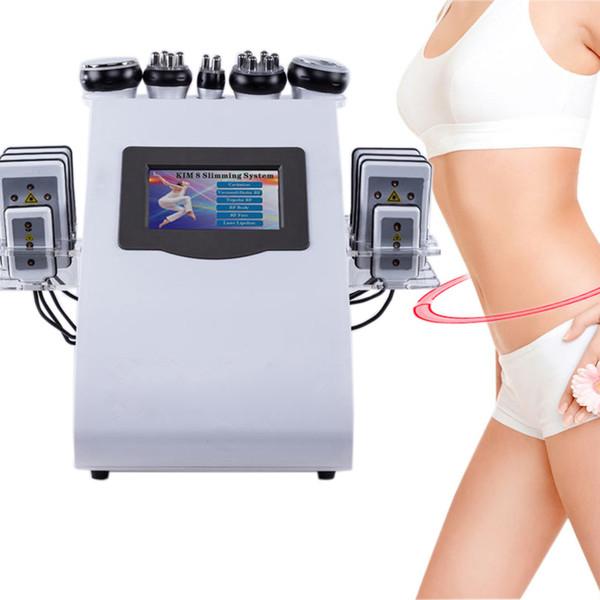 top popular High Quality New Model 40k Ultrasonic liposuction Cavitation 8 Pads Laser Vacuum RF Skin Care Salon Spa Slimming Machine UPS Free shipping 2020