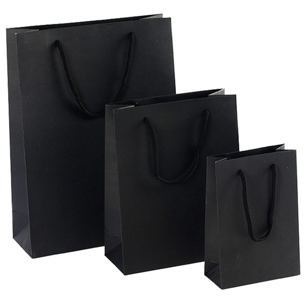 gift Paper Bag With Handle for Birthday Party black 28*10*33CM