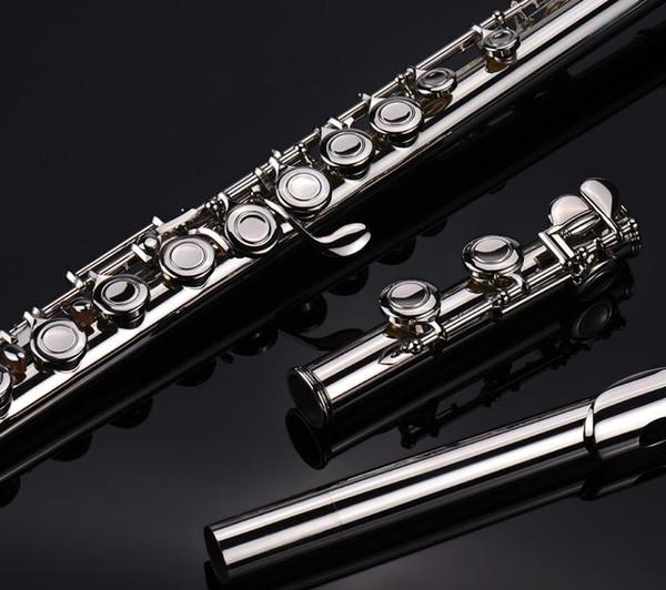 Nickel Plated Flute 16 Holes C Key Closed E Key Split New Student Flute for Beginner