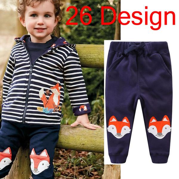 Children's Pants Boys Spring Autumn Pants Cartoon print 100% Cotton 2-7 Years Boys 26 Design Pants