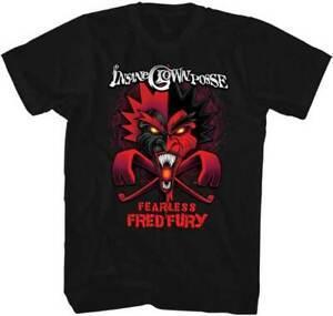 Nouveau Hommes 039 s ICP Insane Clown Posse Sans Peur Fred Fury Imprimé T Shirt L