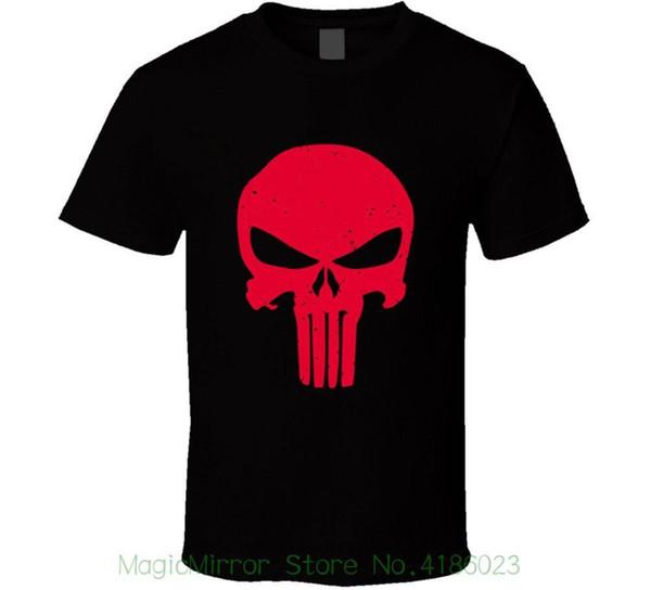 Marvel Avengers Punisher Skull Camisa Manga Larga para Hombre
