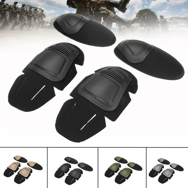Military Tactical Knee and Elbow Protector Pad Combat Uniform Set Insert Protective Gear Knee Elbow Pads