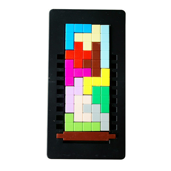 Puzzles suzakoo 1pcs Square puzzle plane tetris intelligence game for children playing