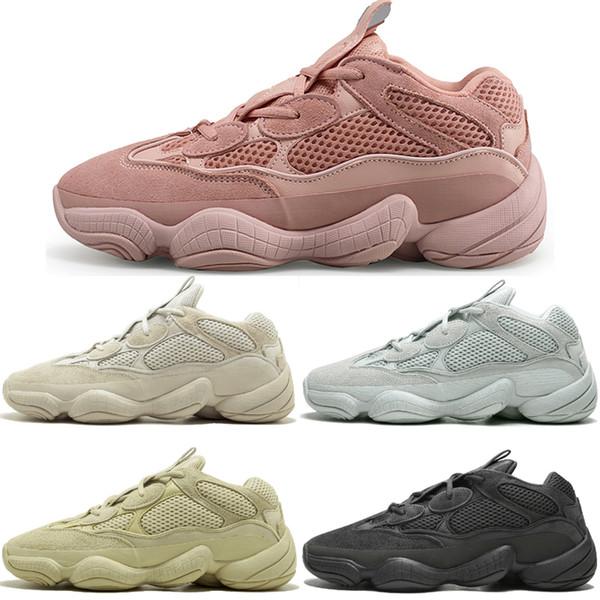 2019 Nouveau 500 Desert Rat Blush 500s Sel Super Moon Jaune Utilitaire Noir Hommes Chaussures de course pour hommes Femmes Baskets de sport formateurs de designer