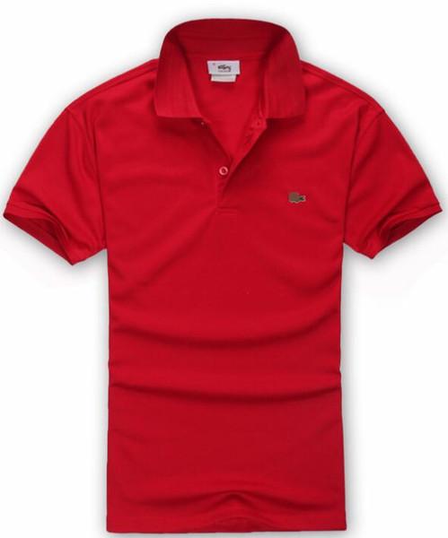 Sıcak lüks 2018 Polo Gömlek Erkekler Büyük At Camisa Katı Kısa Kollu Yaz Rahat Camisas Polo Erkek nakliye ücretsiz