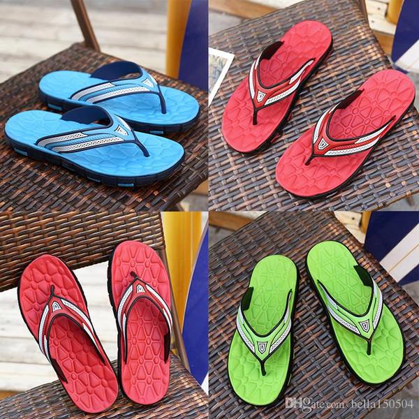 Mais novo designer de Sandálias De Borracha De Slaleve Sandálias Chinelos Designer de Listra azul Vermelho Verde Clássico Verão Flip Flops Sandálias de praia Ao Ar Livre