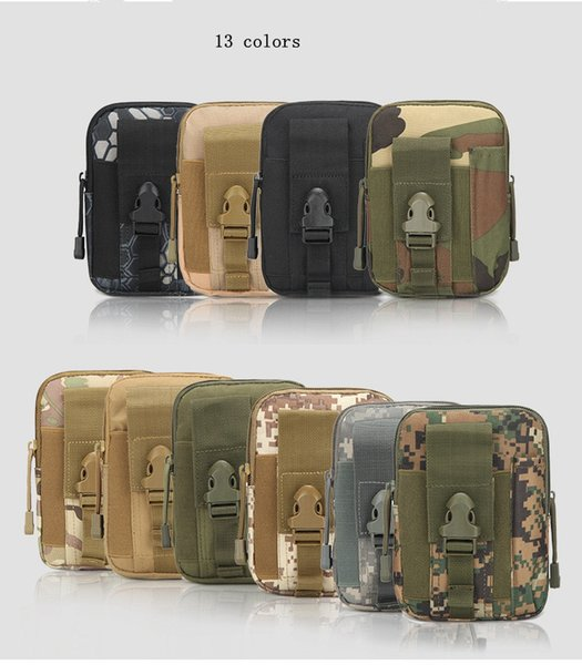 Tattico Militare Hip Tasca Portafoglio Uomo Sport All'aria Aperta Casuale Cintura Cassa Del Telefono Custodia Army Camo Camouflage Bag MMA1954