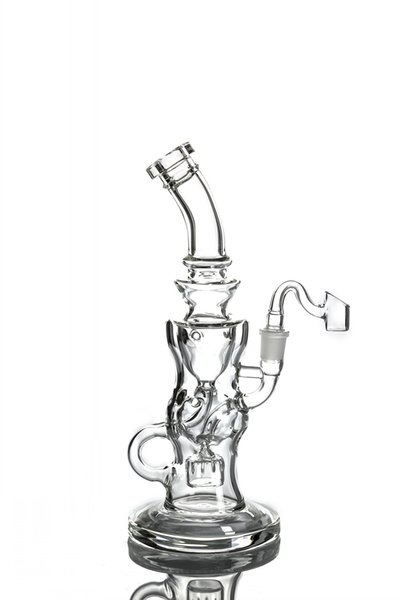 11.7 Inchs Big bong Recycler Oil Rigs Thick Glass Water Bong Smoking Pipes Heady Dab Unique Bong Bubblers With 14mm Joint