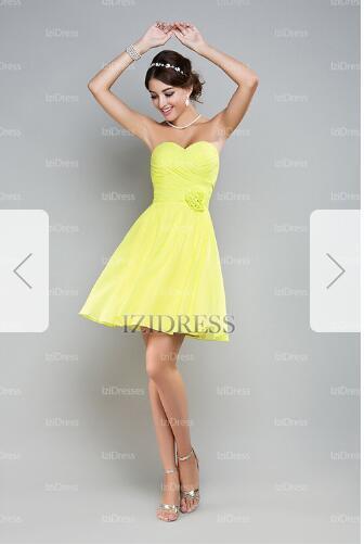 A-Line/Princess Sweetheart Short/Mini Chiffon Prom Dresse98
