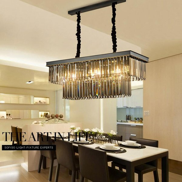 Dining Table Dining Lamp Chandelier Chandelier Crystal Rectangular Creative  Personality Dining Room Lamp Bar Modern Chandelier Modern Pendant Drop ...