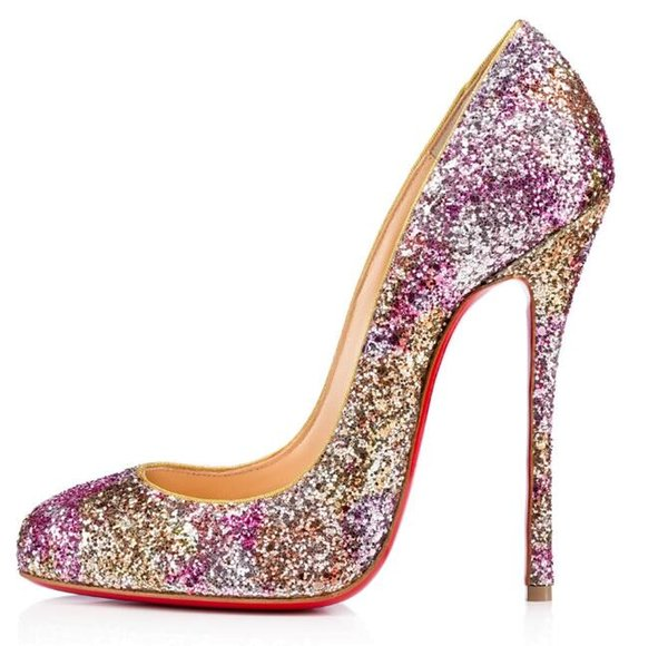 huge discount a0d8a 7a113 2019 Christian Louboutin CL High Quality Women High Heels Shoes Rivets  Purple Patent Heels Lady Wedding Shoes Red Shoes High Heels Shoes+Box A  From ...