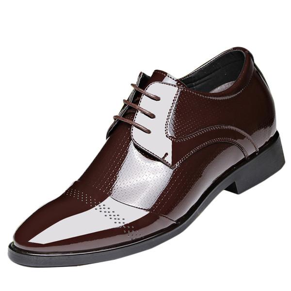 Zapatos de hombre Moda Inglaterra Hombres Zapatos de cuero Traje de negocios Formal Cordones transpirables