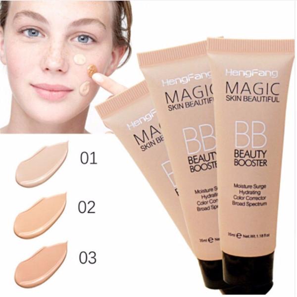 Hengfang Magic Skin Beautiful BB Beauty Booster Aclarar Base Corrector Blanqueamiento de larga duración Corrector de color Fundación BB Cream
