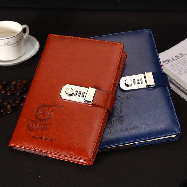 Annata con chiusura a libro A5 Notebook in pelle PU Note diario con serratura Traveler Journal Weekly Planner School Cancelleria regalo