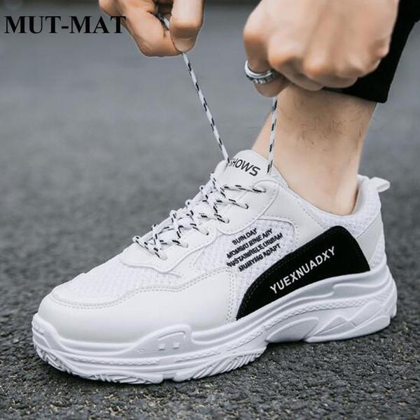 08b583b0ca2 2019 мужская обувь на шнуровке повседневная папа кроссовки весна новая мода  износостойкие спортивные кроссовки высокое качество