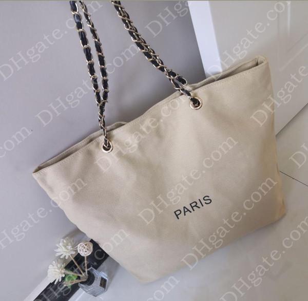 VIP ПОДАРОК классического Торговый холщовый мешок с цепью роскошных путешествий сумки женщины сумки плеча Cosmetic хранение случай мода холст пляж мешок # 8536