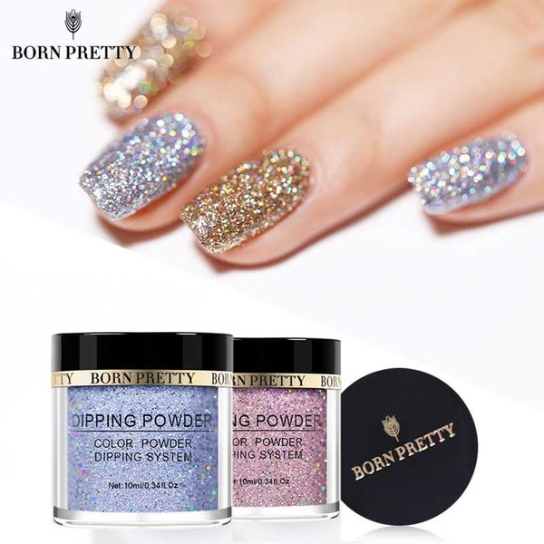 Holographic Dip Nail Powders Gradient Dipping Glitter Decoration Lasting than UV Gel Natural Dry Without Lamp Cure