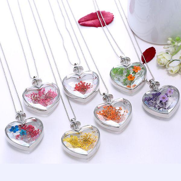 Araç Dekorasyon kolye Kalp Bitki Kuru Çiçek Numune Oto Dikiz Aynası Trim Dekorasyon Aksesuar El Yapımı Kolye Hediye