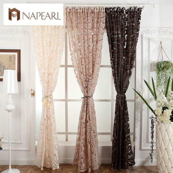 NAPEARL Panel de cortina de moda moderna cortinas decorativas jacquard cortinas grises cortina de ventana para dormitorio