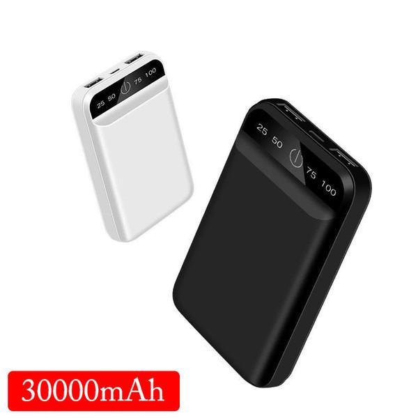 Huawei İçin Samsung Xiaomi iPhone8 X için 30000mAh Taşınabilir USB güç bankası Batteria pover banka harici batarya şarj POWERBANK