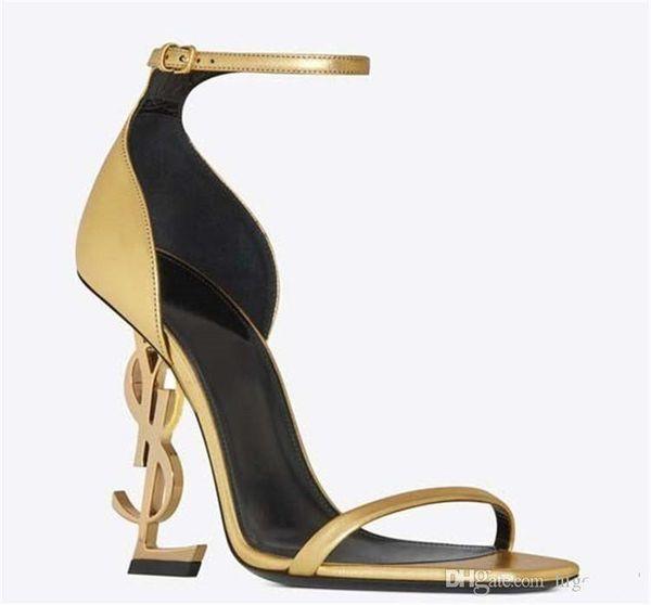 2020 in pelle verniciata nera Desinger Grey Heel scarpe da sposa moda sposa Modest Eden scarpe tacco alto partito di sera Donne 8-10cm