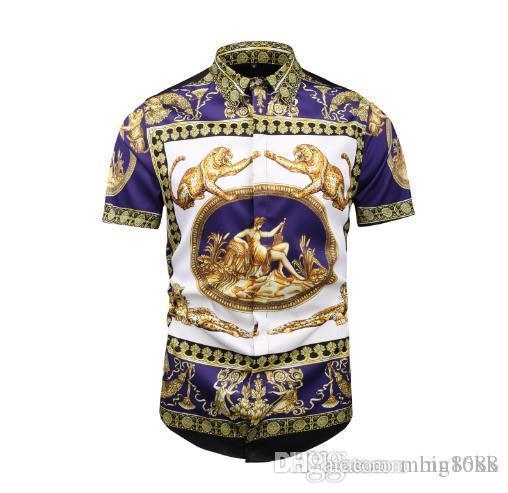 T-shirt décontracté pour hommes 2018 à manches courtes de marque Polo shirt 2019 coton épine spectacle mode Medusa High Street Hip-hop 100%