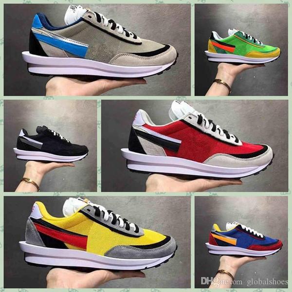 Nike Waffle Hot Melhor Qualidade Sacai Waffle Daybreak Runner Trainer Retro Sapatilhas Homens e Mulheres Esporte Corredor Sapatos Tênis Respirável Size36-45