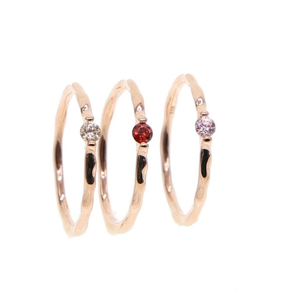 White/Pink/red stone Wedding Rings for women Jewelry Rose Gold color engagement Rings female Anel bijoux party gift top quality