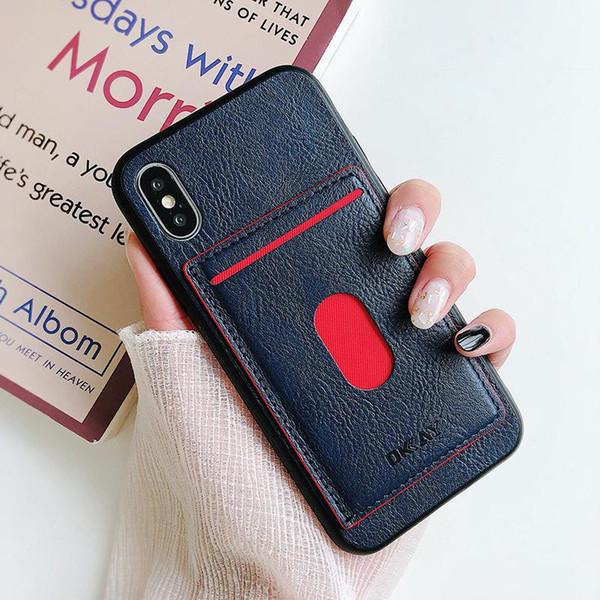 Custodia protettiva Per Iphone XS Max XR Samsung S10 S9 Plus Custodie in pelle TPU Portafoglio Retro Cover Custodia Con Scheda Slot Portafoto
