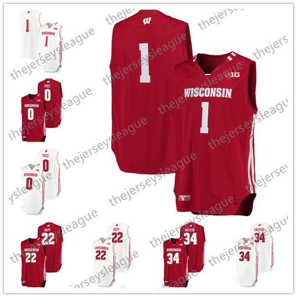 Custom White Personalized Stitched Any Name Any Number #22 Ethan Happ 44 Frank Kaminsky College Basketball Jerseys S-3XL