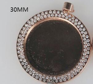 로즈 골드 라운드 30mm