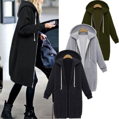 Womens Ladies Zipper Tops Hoodie Sweatshirt Casual Jumper Lady Women Warm Brief Soft Hooded Swaetshirts Clothing Top