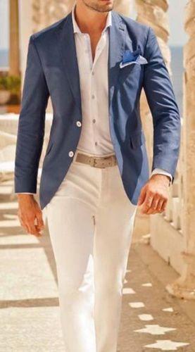Cool Handsome Notch Lapel Men Suits Custome Homme Formal Terno Masculino Terno Slim Fit Blazer Tuxedo(Jacket+Pant+Handkerchiefs)