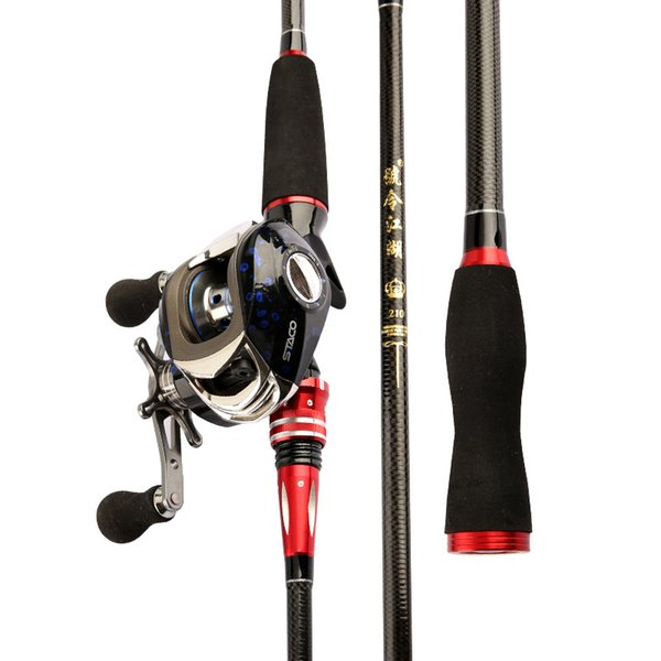 1.8m 2.1m lure rod m power casting pole hand olta anchor olta black fish pesca fishing canne fishing tackle outdoor necessities thumbnail