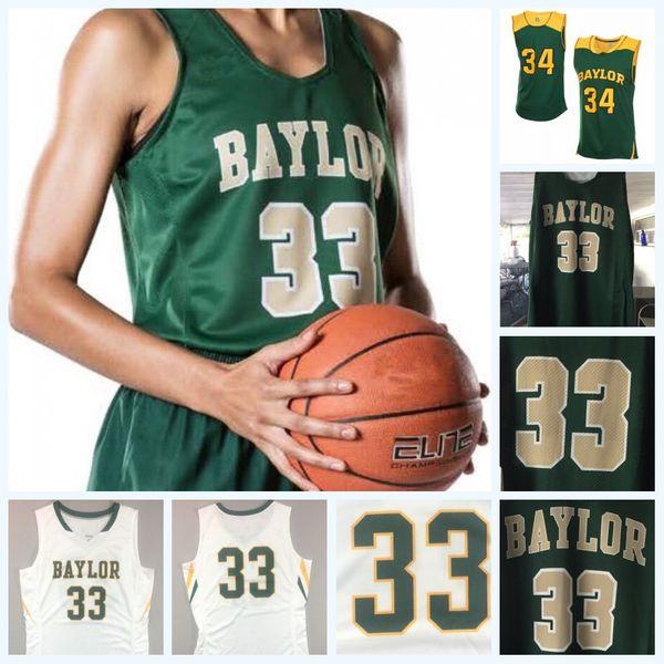 Baylor Bears 15 Lauren Cox Baylor University Womens 24 Chloe Jackson 21 Kalani Brown 2 DiDi Richards NCAA College Basketball Jersey
