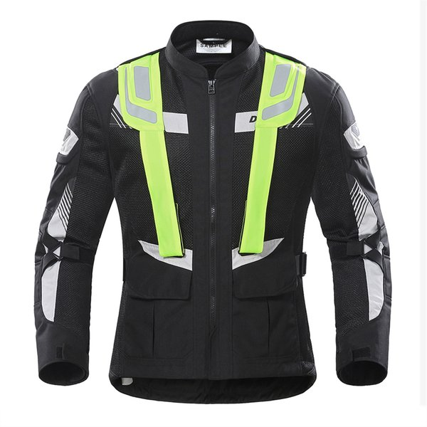 DUHAN Motorcycle Jacket Men Motorbike Jacket Protective Gear Breathable Mesh Reflective Moto Riding Motorcycle Protection