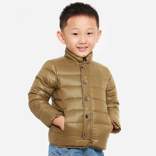 2-7 years boys girls winter down Coat 90% white duck down kids children's parkas Warm Solid color stand-up single-breasted