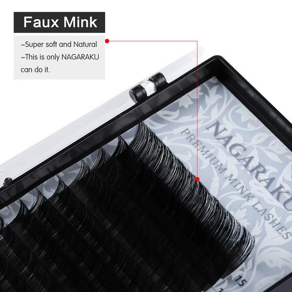 16 Lines 7~15mm Mix Length Faux Mink Full Size False Eyelashes Individual Volume Eye Lashes Makeup Extension Tools C/J/B/D Curl