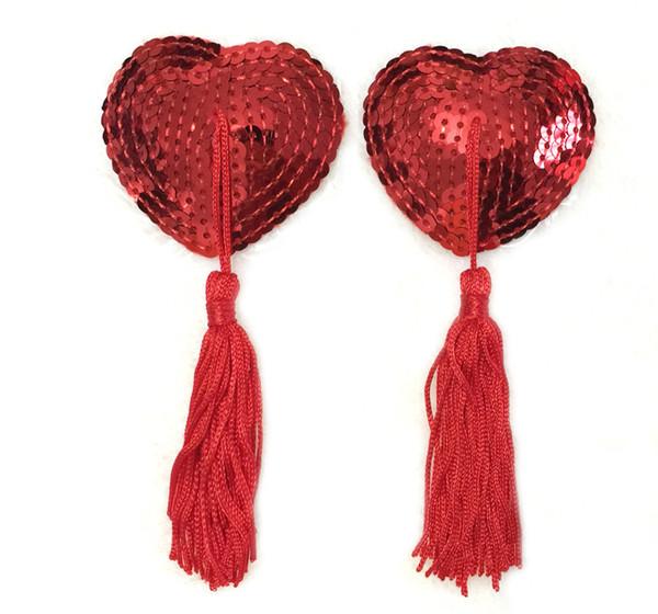 Latte pasta donne Boobie nappa cuore paillettes pasties reggiseno seno silicone cuore copertura capezzolo adesivo per adesivi lingerie erotica