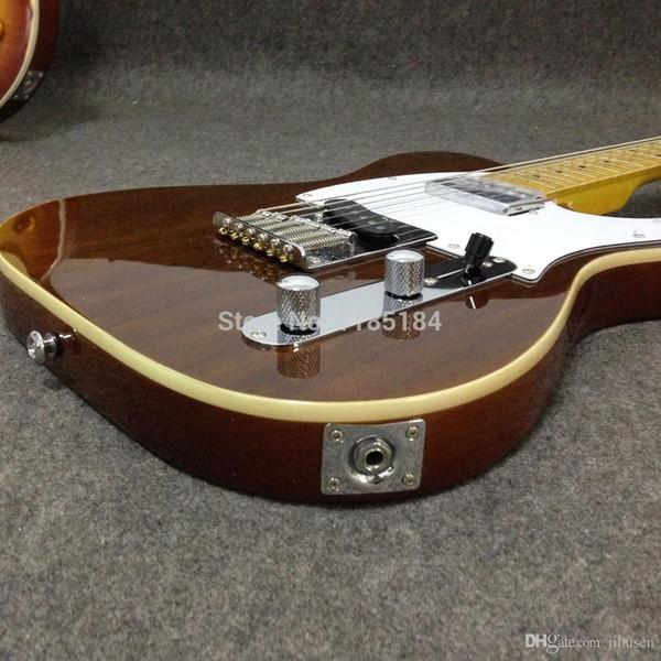 O envio gratuito de alta qualidade grande cabeça clássicos da guitarra elétrica veneerin pau-rosa