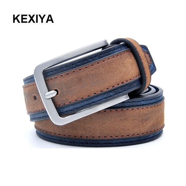 KEXIYA2017 Designer Men Belt Casual Puzzle Luxury Men's Fashion Accessories Jeans Belt Double-layer Two-color Belt