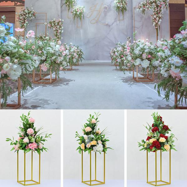 Пользовательские 38 см шелк Роза искусственный цветок мяч центральные расположение декор для свадьбы фон дорога ведущий стол цветок мяч