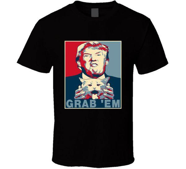 Funny Grab Them T Shirt Mens Tee Trump President Gift Nouveau chez nous
