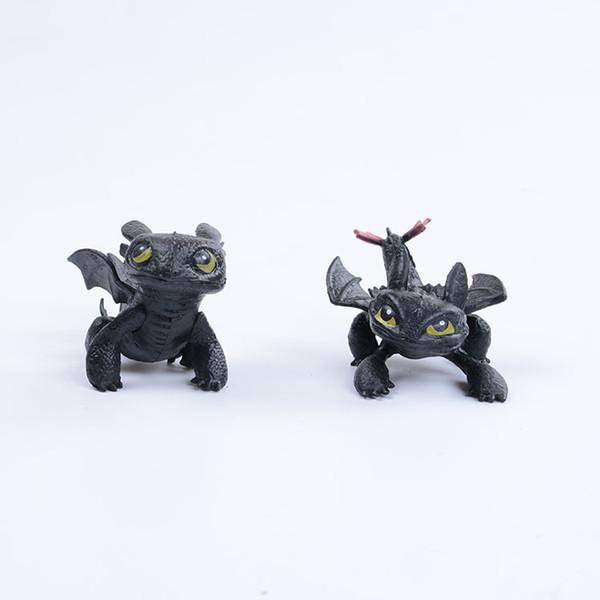 1pc Come addestrare il tuo drago 2 Giocattoli Action Figures Night Fury Sdentato PVC Drago Brinquedos Bambini Giocattoli per bambini AIJILE