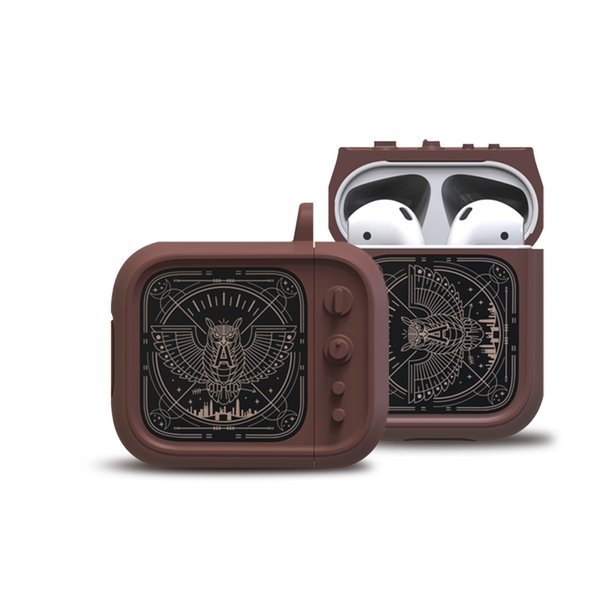 Retro TV Funda de silicona Auriculares para Airpod Fundas de diseño de lujo Fundas para auriculares AirPods Funda protectora Accesorios de piel para Airpods