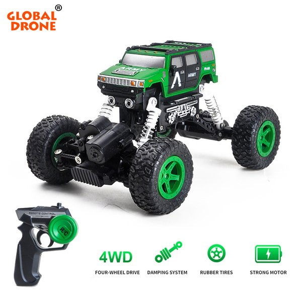 Global Drone RC Electricity Vehicles Cars Machine on the Radio 4x4 Drive Off-Road Remote Control Car Toys for Children