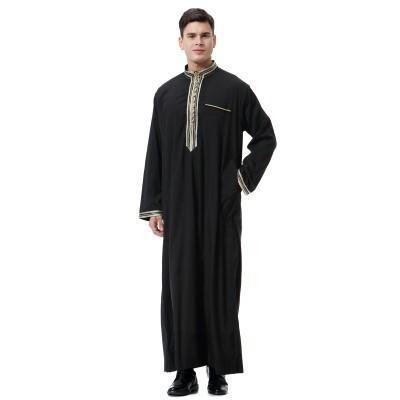 schwarzes muslimisches Kleid L