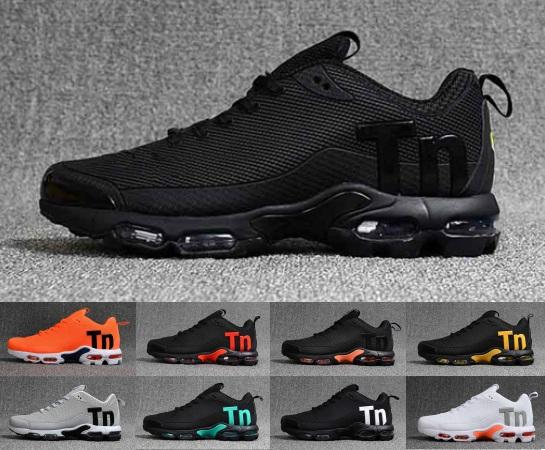 Mercurial TN TPU Mens Running Designer Shoes 2019 Men Casual Air Cushion Black Grey Trainers Outdoor Hiking Sports Zapatos Sneakers 40-45