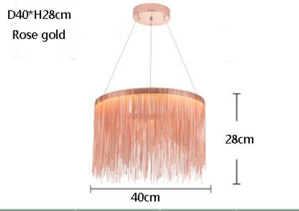 diámetro 40cm oro rosa